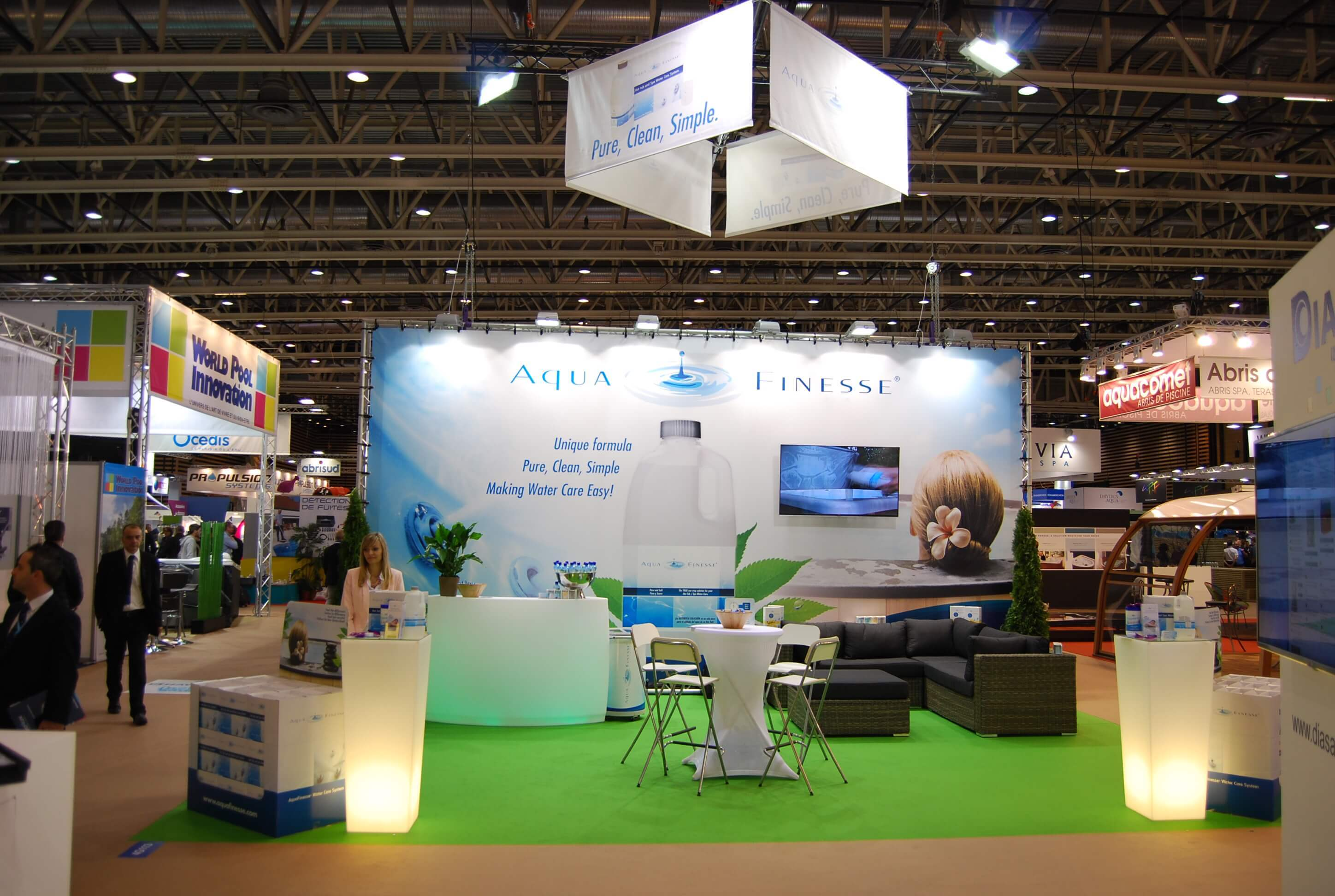 Aquafinesse was presented at the piscine expo in lyon for Pool show lyon